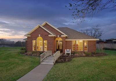 Elevation B - The Savannah Model in Bryan Design Center Tilson Custom Home Photo