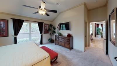 Master Bedroom - Frio Model in Boerne Design Center Tilson Custom Home Photo