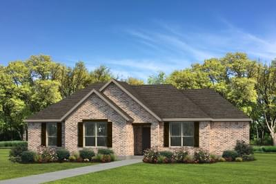 Elevation B - The Nacogdoches Tilson Custom Home Photo