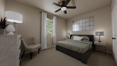Bedroom 2 - The Refugio | Rendered Home - May Contain Upgrades and Plan Changes Tilson Custom Home Photo