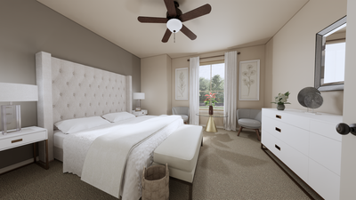 Bedroom 3 - The Refugio | Rendered Home - May Contain Upgrades and Plan Changes Tilson Custom Home Photo