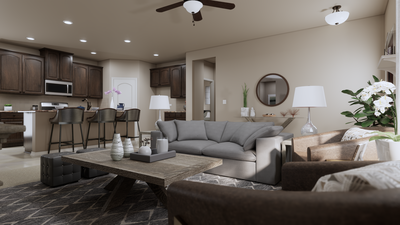 Family Room - The Refugio | Rendered Home - May Contain Upgrades and Plan Changes Tilson Custom Home Photo