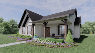 Elevation C – The Gonzales | Rendered Home - May Contain Upgrades and Plan Changes Tilson Custom Home Photo
