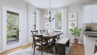 Breakfast Nook – The Gonzales | Rendered Home - May Contain Upgrades and Plan Changes Tilson Custom Home Photo
