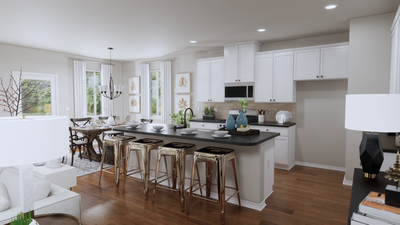 Kitchen – The Gonzales | Rendered Home - May Contain Upgrades and Plan Changes Tilson Custom Home Photo