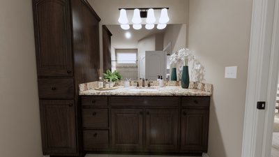 Master Bathroom - The Refugio | Rendered Home - May Contain Upgrades and Plan Changes Tilson Custom Home Photo