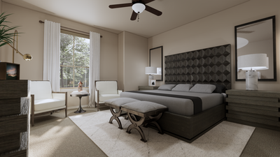 Master Bedroom - The Refugio | Rendered Home - May Contain Upgrades and Plan Changes Tilson Custom Home Photo