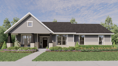 Elevation D - The Tampico | Rendered Home - May Contain Upgrades and Plan Changes Tilson Custom Home Photo