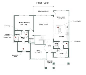 The Cedar Creek   Elevation B First Floor Tilson Custom Home Photo