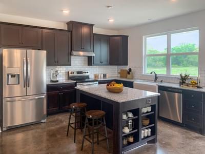 Alternate Kitchen and Island   Harrisbug C - Customer Home Tilson Custom Home Photo