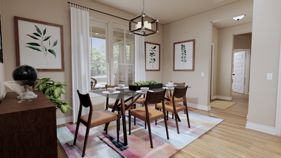 Breakfast Area - The Goliad | Rendered Home - May Contain Updates and Plan Changes Tilson Custom Home Photo
