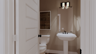 Powder Room - The Goliad | Rendered Home - May Contain Updates and Plan Changes Tilson Custom Home Photo