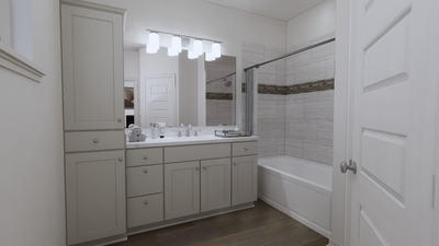 Master Bathroom - The Nacogdoches | Rendered Home - May Contain Upgrades and Plan Changes Tilson Custom Home Photo