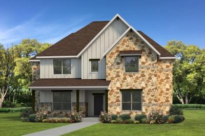Elevation D | The Granbury Tilson Custom Home Photo