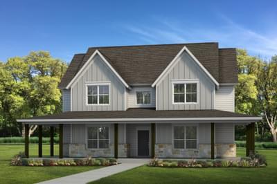 Elevation E | The Granbury Tilson Custom Home Photo
