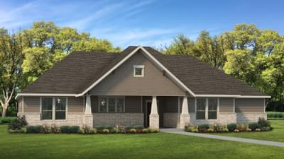 Elevation B | The Abilene Tilson Custom Home Photo
