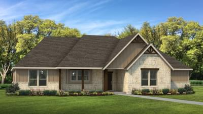 Elevation D | The Abilene Tilson Custom Home Photo