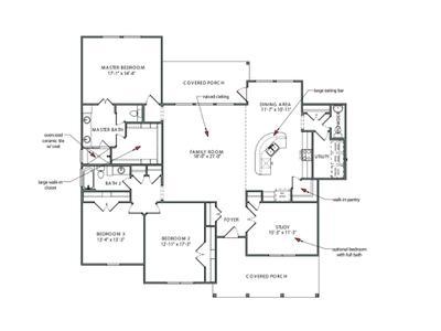 Floor Plan| Elevation C | The Canyon Tilson Custom Home Photo