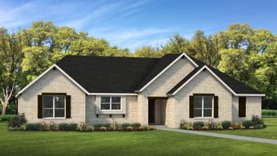Elevation A | The Abilene Tilson Custom Home Photo