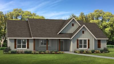 Elevation C | The Abilene Tilson Custom Home Photo