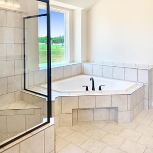 Master Bath - The Shiloh | Customer Home in Brazoria County - May Contain Upgrades and Plan Changes Tilson Custom Home Photo