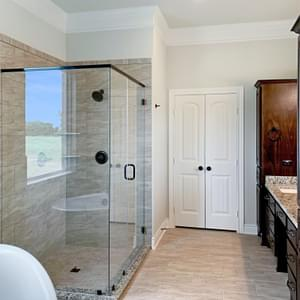 Master Bath  – The Preston | Customer Home in DeWitt County - May Contain Upgrades and Plan Changes Tilson Custom Home Photo