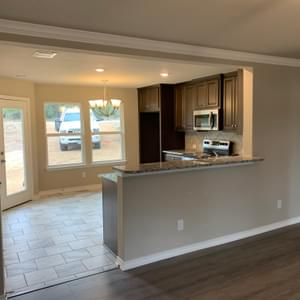 Kitchen and Dining– The San Antonio | Customer Home in Medina County - May Contain Upgrades and Plan Changes Tilson Custom Home Photo