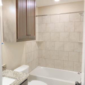 Guest Bath - The San Felipe | Customer Home in Comal County - May Contain Upgrades and Plan Changes Tilson Custom Home Photo