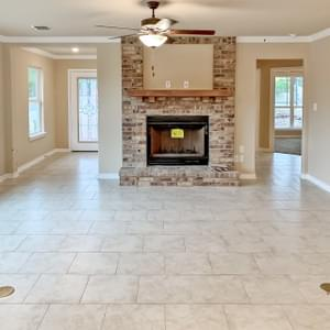 Fireplace - The San Felipe | Customer Home in Comal County - May Contain Upgrades and Plan Changes Tilson Custom Home Photo