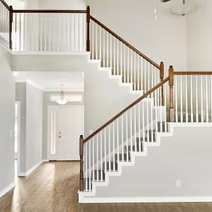 o Stairs – The Oxford | Customer Home in Wharton County - May Contain Upgrades and Plan Changes Tilson Custom Home Photo