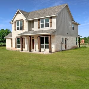 Elevation C – The Oxford | Customer Home in Wharton County - May Contain Upgrades and Plan Changes Tilson Custom Home Photo