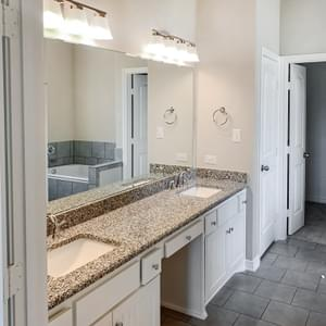 Master Bath – The Oxford | Customer Home in Wharton County - May Contain Upgrades and Plan Changes Tilson Custom Home Photo