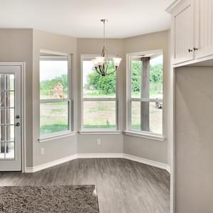 Breakfast Nook – The Oxford | Customer Home in Wharton County - May Contain Upgrades and Plan Changes Tilson Custom Home Photo