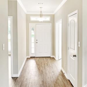 Foyer – The Oxford | Customer Home in Wharton County - May Contain Upgrades and Plan Changes Tilson Custom Home Photo