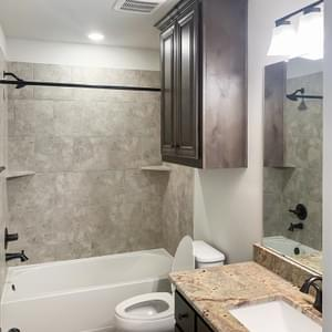 Guest Bath – The La Porte   Customer Home in Brazoria County - May Contain Upgrades and Plan Changes Tilson Custom Home Photo