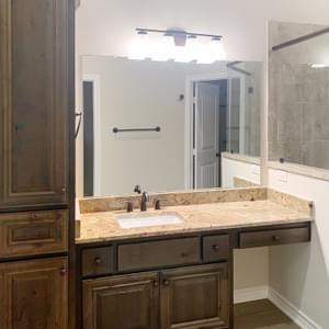 Master Bath – The La Porte | Customer Home in Brazoria County - May Contain Upgrades and Plan Changes Tilson Custom Home Photo