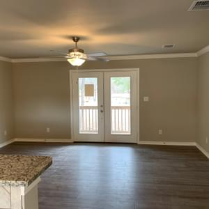 Living – The San Antonio | Customer Home in Medina County - May Contain Upgrades and Plan Changes Tilson Custom Home Photo