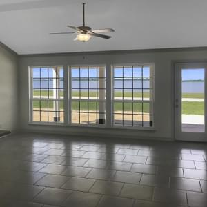 Family Room Cathedral Ceiling - The Velasco | Customer Home in Anderson County - May Contain Upgrades and Plan Changes Tilson Custom Home Photo