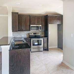 Kitchen - The Rio | Customer Home in Gonzales County - May Contain Upgrades and Plan Changes Tilson Custom Home Photo