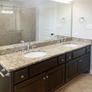 Alternate Master Bath - The Rio | Customer Home in Gonzales County - May Contain Upgrades and Plan Changes Tilson Custom Home Photo