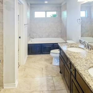 Alternate Master Bath with Soaking Tub - The Rio | Customer Home in Gonzales County - May Contain Upgrades and Plan Changes Tilson Custom Home Photo