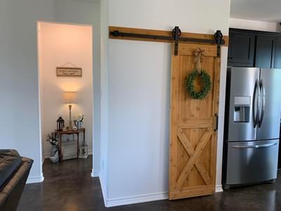 Pantry with Barn Door - Harrisburg C - Customer Home Tilson Custom Home Photo
