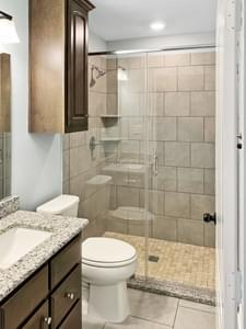 Bath 2 - The San Felipe   Customer Home in Kendall County - May Contain Upgrades and Plan Changes Tilson Custom Home Photo