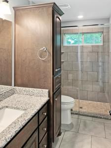 Master Bath - The San Felipe   Customer Home in Kendall County - May Contain Upgrades and Plan Changes Tilson Custom Home Photo
