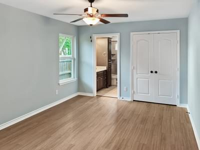 Master Bedroom - The San Felipe   Customer Home in Kendall County - May Contain Upgrades and Plan Changes Tilson Custom Home Photo