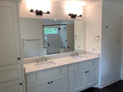 Master Bath Option - The Magnolia   Customer Home in Guadalupe County - May Contain Upgrades and Plan Changes Tilson Custom Home Photo