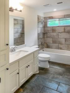 Bathroom 2 - The Magnolia | Customer Home in Guadalupe County - May Contain Upgrades and Plan Changes Tilson Custom Home Photo