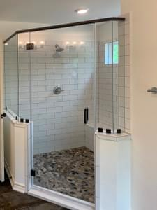 Master Bath - Walk-In Shower Option - The Magnolia | Customer Home in Guadalupe County - May Contain Upgrades and Plan Changes Tilson Custom Home Photo