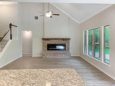 Living Room - The Oxford | Customer Home in Walker County - May Contain Upgrades and Plan Changes Tilson Custom Home Photo
