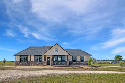 Elevation D - The Rio | Customer Home in Burnet County - May Contain Upgrades and Plan Changes Tilson Custom Home Photo